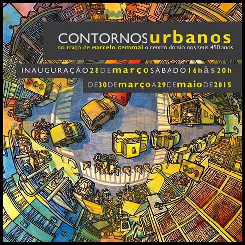rioecultura : EXPO Contornos urbanos no tra�o de Marcelo Gemmal - o Centro do Rio nos seus 450 anos : Solar Grandjean de Montigny - PUC