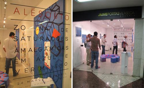 rioecultura : EXPO Alê Souto - Zona de Saturações Amalgâmiccas em Azul e Vermelho